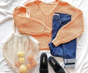 jean, lemon, and sweater image