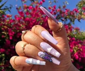 nails, aesthetic, and butterfly image