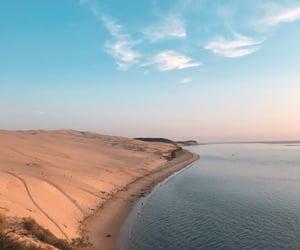 beach, sand, and sky image