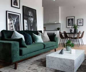 home, interior, and green image