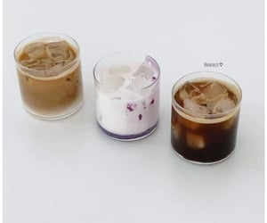 cafe, iced coffee, and white image