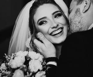 black and white, ابيض واسود, and wedding image