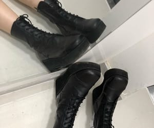 black, boots, and emo image