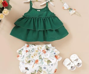 baby girl, cake design, and summer outwear image