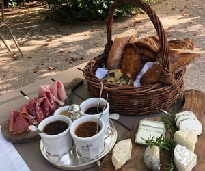 food, picnic, and coffee image