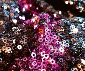 closeup, sequins, and shiny image