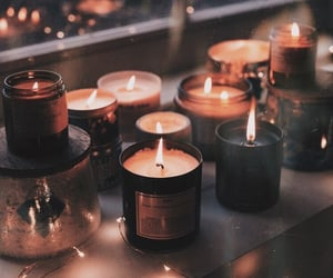 candle, light, and autumn image