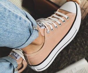 converse, jeans, and Nude image