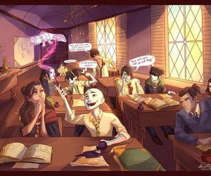 avatar, harry potter, and hogwarts image