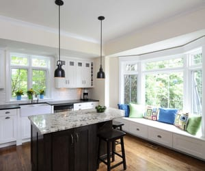 kitchen bay window, bay window for kitchen, and kitchen bay window ideas image