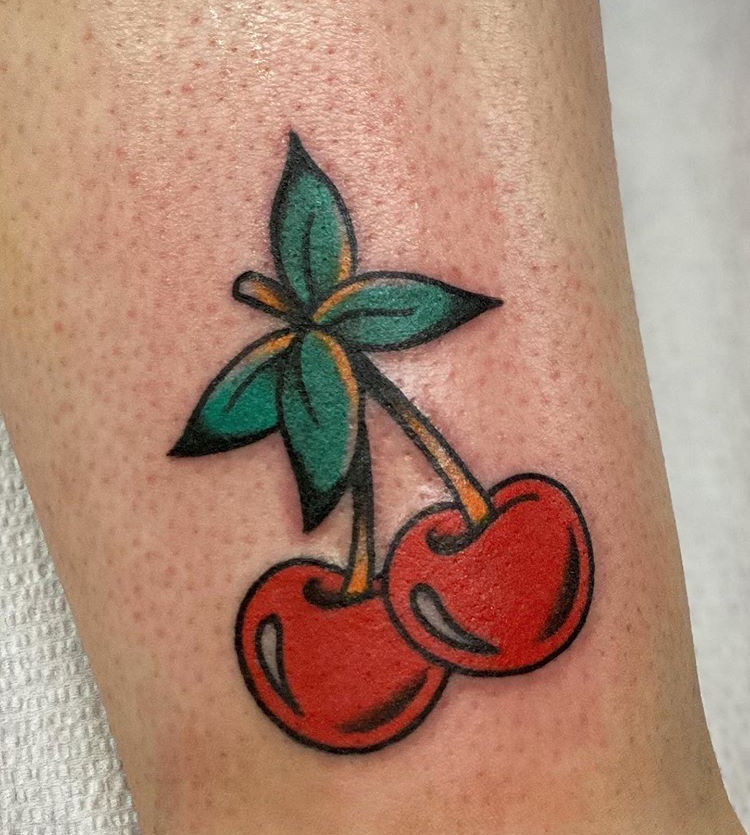cherry, old school, and tattoo image