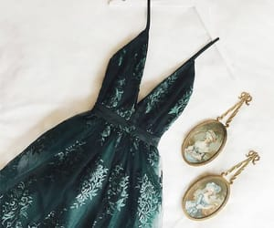 dress, emerald, and fashion image