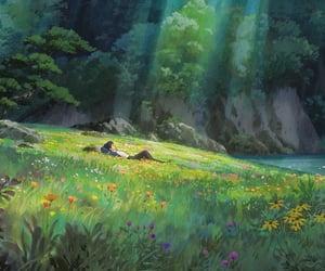 nature, studio ghibli, and anime image