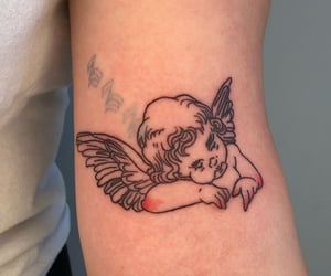 tattoo, angel, and art image