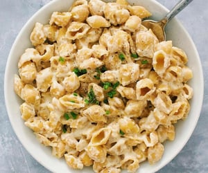 food, breakfast, and pasta image