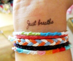 tattoo, bracelet, and breathe image