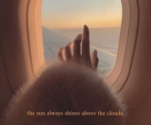 quotes, airplane, and clouds image