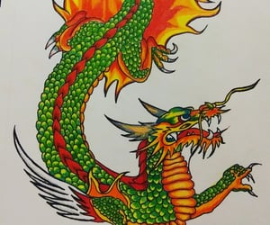 art, prismacolor, and chinese image