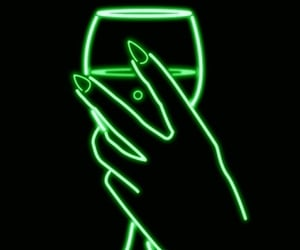 neon, wallpaper, and light image