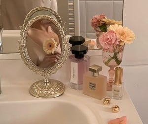 flowers, bathroom, and pink image