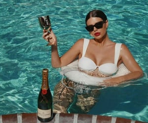 fashion, pool, and model image