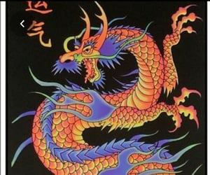 art, colorful, and dragon image