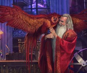 albus dumbledore, art, and harry potter image
