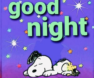 art, good night, and snoopy image