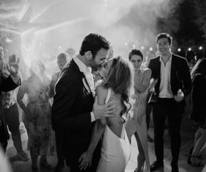 black and white, wedding, and couple couples image