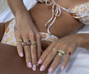 acrylics, beach, and gold image