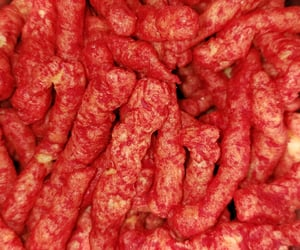 chips, food porn, and hot cheetos image