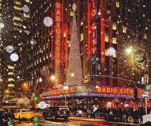 christmas, city, and new york image
