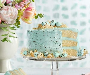 cake, blue, and delicious image