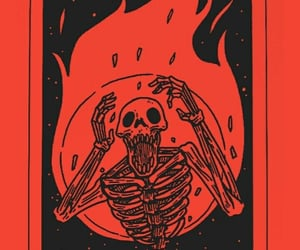 red, skeleton, and aesthetic image