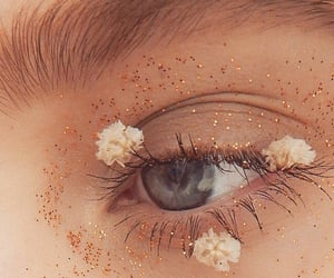 eyes, flowers, and eye image