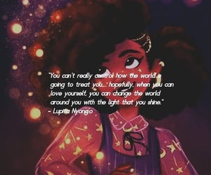 Afro, confidence, and lupita image