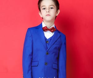 boys wedding suits, 5 sets, and royal blue suits image