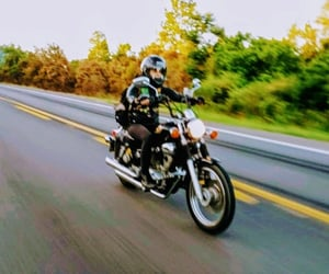 life, motorcycle, and on the road image