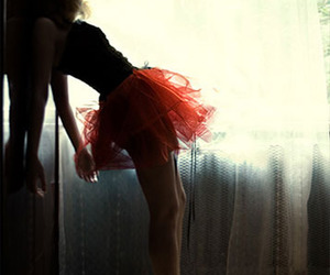 girl, ballerina, and red image