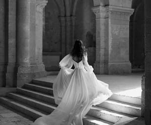dress, castle, and aesthetic image