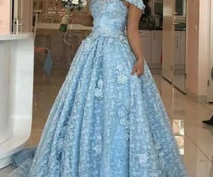 elegant prom dress, prom ball gown, and robe de soirée image