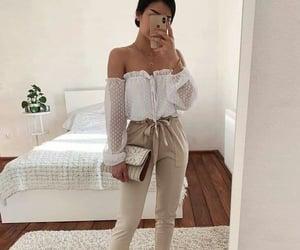 fashion girl, pants, and shirts image