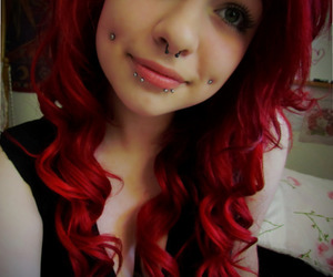 alternative, colored hair, and piercing image