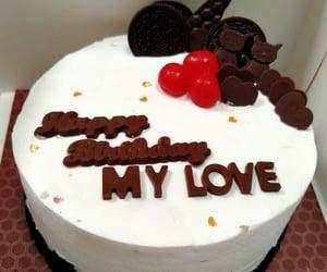birthday cake, foods, and oreo image