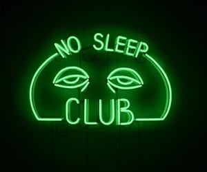 neon, sleep, and aesthetic image