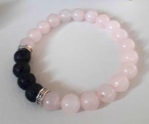 gemstones, silver bracelet, and stretch bracelet image