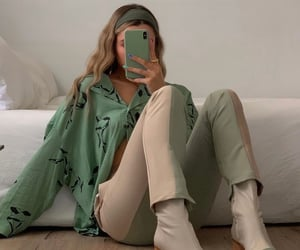 chic, green, and mirror image