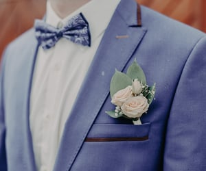 flower, men, and suit image