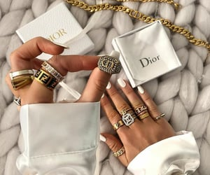 dior, fendi, and rings image