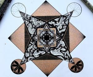 art, drawing, and geometric image
